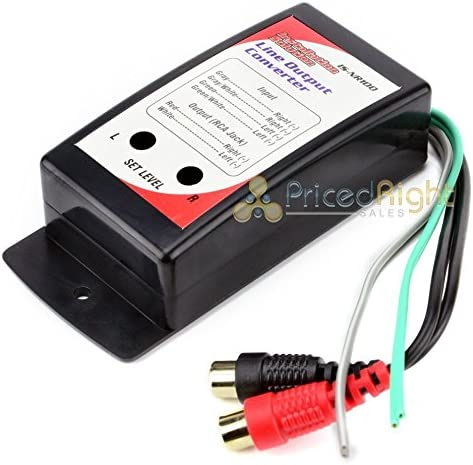 Rca Power Amp Low Level Jack Adapter Line Output Converter Car Stereo Audio Mp3 Hifi