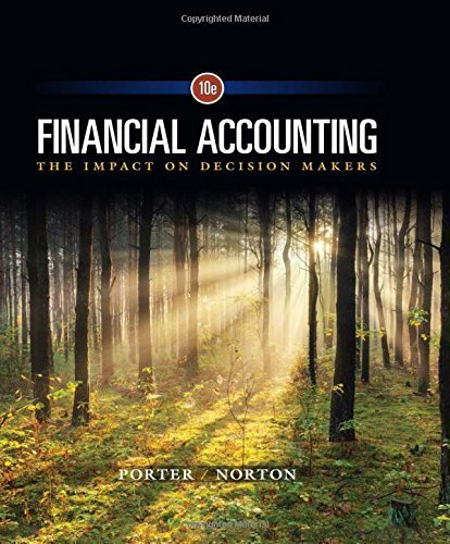 Financial Accounting: The Impact on Decision Makers by Gary A. Porter (2016-01-01)