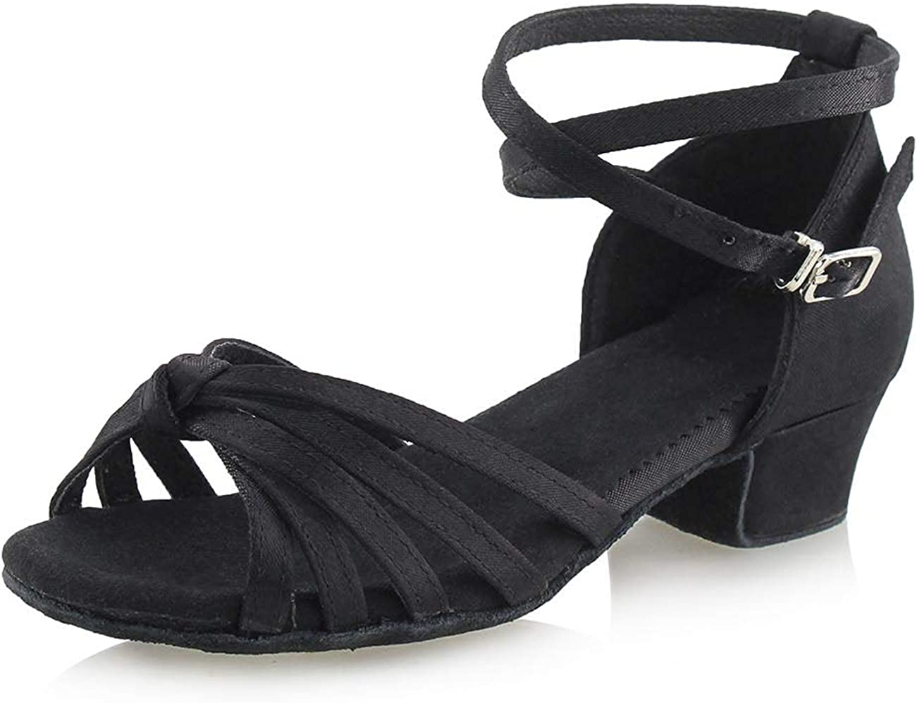 New Women Girls Ballroom Latin Tango Dance Low Heels Salsa Shoes Fashion Sandals