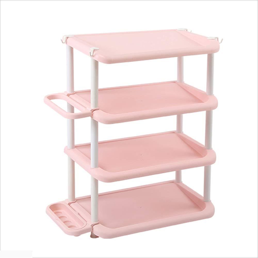 XIAOYAN 靴のラックの靴傘のストレージラックシンプルな家庭用PP材料アセンブリドア小さな靴のキャビネット (色 : Pink) B07HNY51H8 Pink