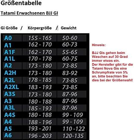 Tatami De Luxe Bjj Gürtel Erwachsene Brasilianisches Jiu-Jitsu A0 A1 A2 A3 A4