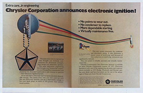1972 CHRYSLER CORP. ELECTRONIC IGNITION DODGE - PLYMOUTH - CHRYSLER