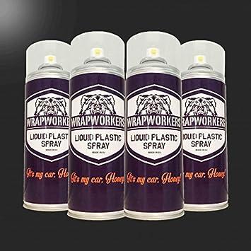 WrapWorkers Pintura para Llantas: 4 Spray Negro Brillo: Amazon.es: Coche y moto