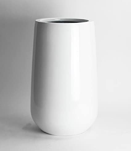 Amazon Tall Shiny White Round Vase Planter Round Bottom