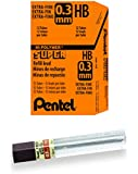 Pentel Super Hi-Polymer Lead, 0.3mm, HB, Box of 12 Tubes (300-HB)