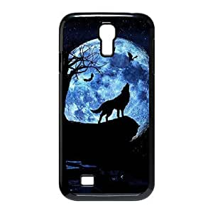 Generic Wolf and Moon New Printed Case for SamSung Galaxy S4 I9500, Unique Design Wolf and Moon Case
