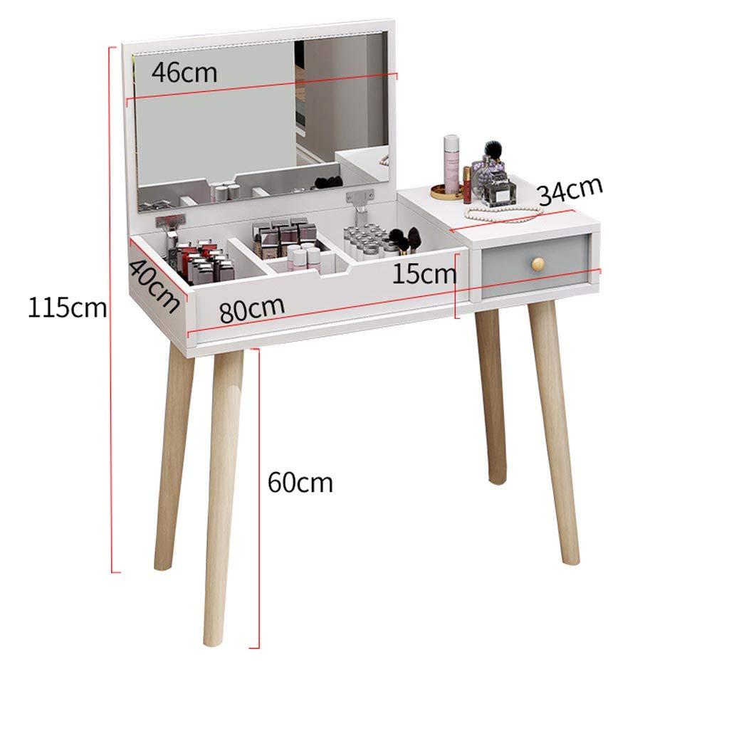 Schminktisch Nordic Schlafzimmer Kleine Wohnung Einfach Jetzt Multifunktions Kosmetische Aufbewahrungstisch, Mit Flip Top Spiegel Make-Up Schreibtisch