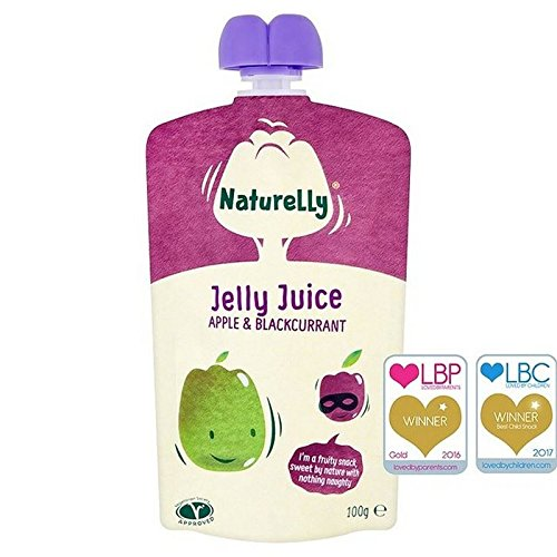 Naturelly Jelly Juice Apple & Blackcurrant Pouch 100g (Pack of 6)