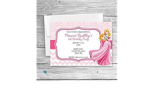 Amazon Princess Aurora Birthday Invitations