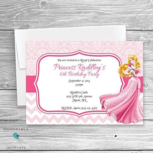 Image Unavailable Not Available For Color Princess Aurora Birthday Invitations