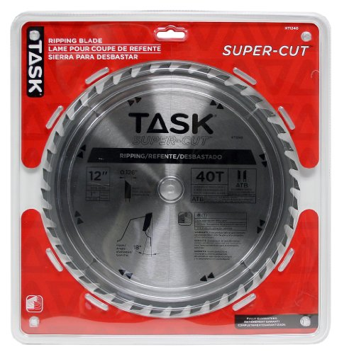 Task Tools XT1240 12-Inch Super-Cut Series Carbide Saw Blade 1-Inch Arbor (Arbor Supercut)