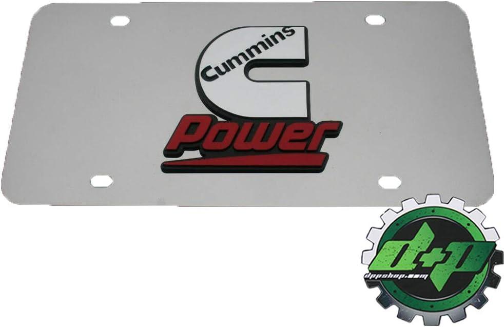 Dodge cummins diesel license plate tag engine sign decal emblem diesel gear