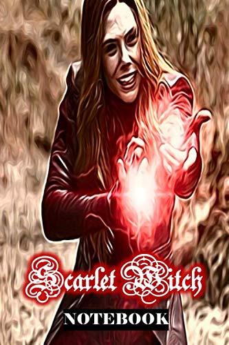Kids Scarlet Shirt - Scarlet Witch: Wanda Maximoff Marvel Women Superhero Notebook Journal 6 x 9 Inches