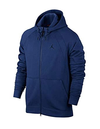 a075c1065df0 Amazon.com  Air Jordan Men s Sportwear Wings French Terry Fleece Full Zip  Hoodie Sweatshirt Blue  Clothing