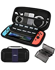 Carry Case for Nintendo Switch - TUXWANG EVA Shell Portable Carrying Case with Foldable Flaps Elastic Strips and Larger Storage for 10 Games and Other Nintendo Switch Accessories [nintendo_switch]