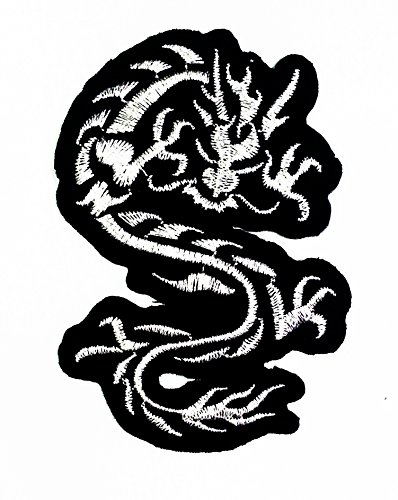 Chinese Japanese Dragon Lucky Animal Tattoo Biker Rider Jacket Vest Patch for Collection with Free Shipping By Botan