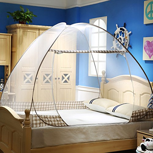 Kail Mosquito Net Portable Folding Pop Up Net Travel Camping Tent Coffee  S 120Cm200cm
