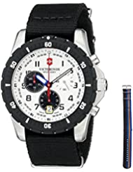 Victorinox Mens 241680.1 Analog Display Swiss Quartz Black Watch