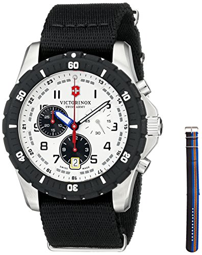 Victorinox Men's 241680.1 Analog Display Swiss Quartz Black Watch