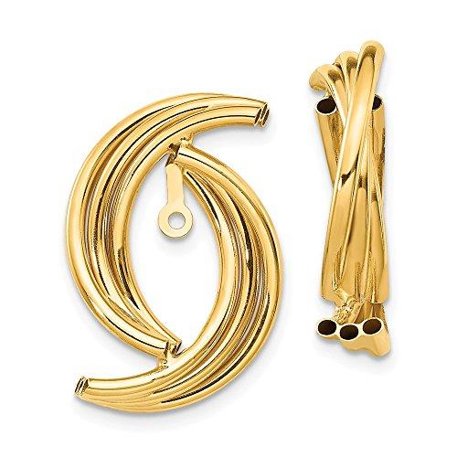 14k Polished Fancy Earring...