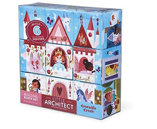 - Crocodile Creek Little Architect Girl Builder Jumbo Block Mix and Match Stacking Set, 3.5