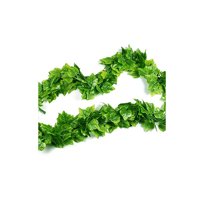 silk flower arrangements vine leaves, 90.5 feet artificial fake hanging vine plant leaves ivy plant garland hanging used for garden wall decoration parties grapevine,12 strip