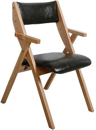 SACKDERTY Chaise Pliante Chaise de Bureau Pliante en Bois