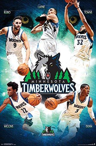 Trends International Minnesota Timberwolves NBA Team Wall Poster
