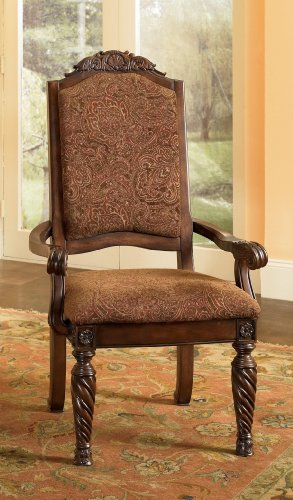 Signature Design by Ashley D553-02A North Shore Dining Chairs, Dark Brown