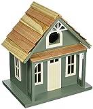 Cheap Home Bazaar- Hand-made Santa Cruz Cottage Green Bird house – Small Bird House – Home Decor