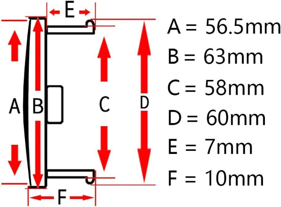KDMB 4 pi/èces 63mm Capuchon de moyeu Central de Roue M595 pour OZ Jante Superturismo Ultraleggera Remplacement en Fiber de Carbone Style de mod/èle