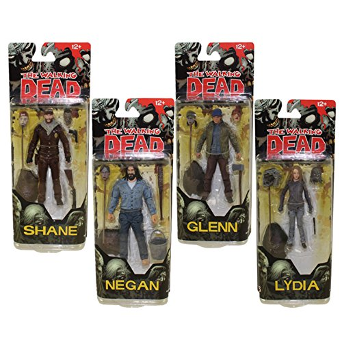 Walking Dead Comic Book Series 5: Neegan, Glenn, Shane, & Lydia Action Figure Set of 4