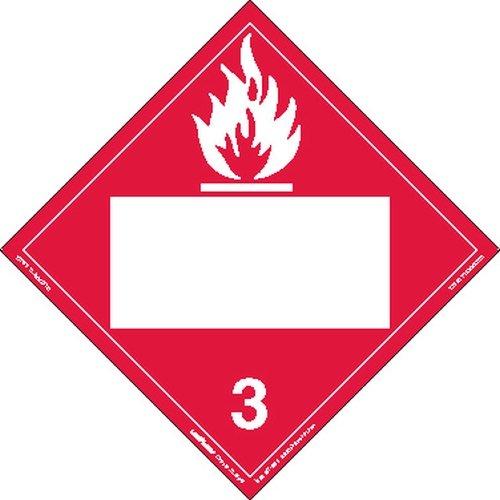 Labelmaster ZRV2B Flammable Liquid Hazmat Placard, Blank, Rigid Vinyl (Pack of 25) by Labelmaster®