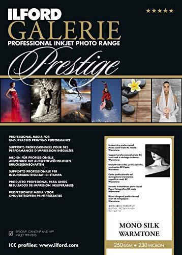 Ilford Galerie Prestige Mono Silk Warmtone 250g 13x18cm Papel fotogr/áfico Inkjet 100 Hojas