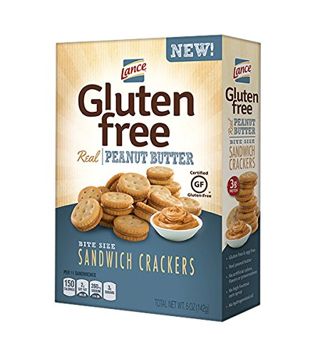 Lance Gluten Free Sandwich Crackers, Peanut Butter, 5 Ounce (Pack of 4)