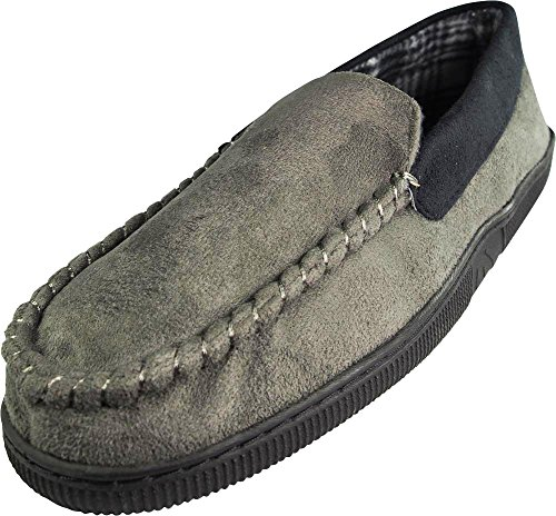Men's Ellis Grey Slippers Classic Moccasin Perry Moc f5dqgwg