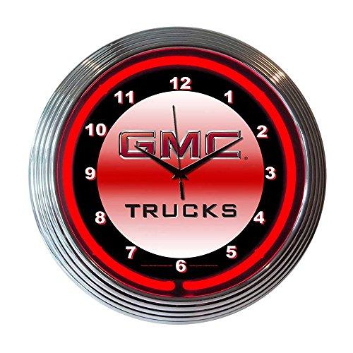 Clock Broncos Neon - Neonetics Decorative Gmc Truck Neon Wall Clock