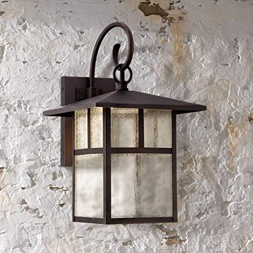 Glenfield Mission Outdoor Wall Light Fixture LED Bronze 14