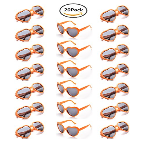 Hombre de para 20 ONNEA Fiesta Corazón 10 Forma paquete Sol Gafas Naranja Pares Mujer de 4wPPqRHx