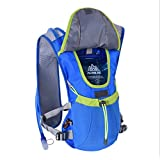 Outop Professional Outdoors Marathoner Running Race Hydration Vest Hydration Pack Backpack Blue