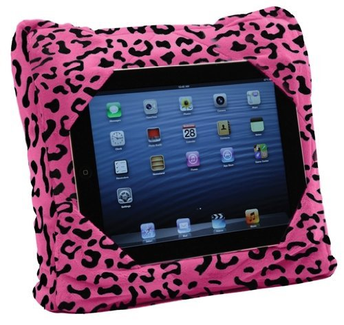 GOGO Pillow - 3-in-1 Travel Pillow, Neck Pillow, Tablet Holder - Pink Leopard (00179) -