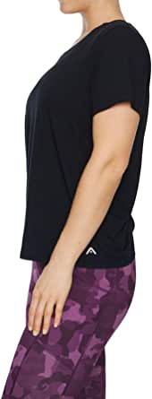 Rockwear Activewear Women's Very Berry Back Gather Detail Tee from Size 4-18 for T-Shirt Tops