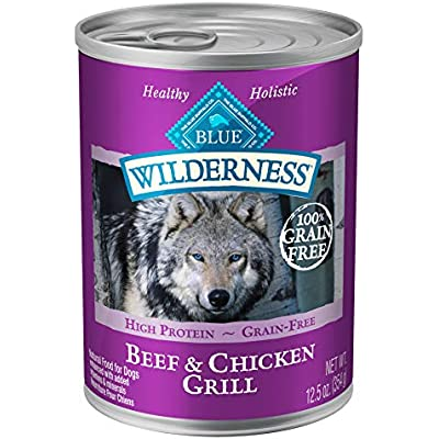 Blue Buffalo Wilderness High Protein Grain Free, Natural Adult Wet Dog Food