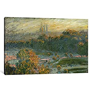 iCanvasART 1-Piece The Tuileries Canvas Print by Claude Monet, 0.75 by 12 by 18-Inch