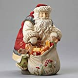 Enesco Heart of Christmas Santa with Mice Gifts Figurine 6.89 In
