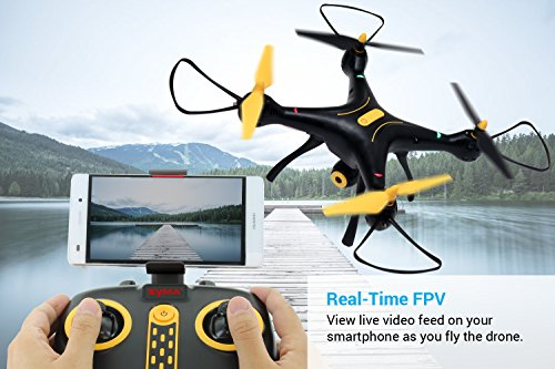 51fzE8FSDxL - Tenergy Syma X8SW Wi-Fi FPV Quadcopter Drone 720P HD Camera Altitude Hold RC 2.4G 4CH 6 Axis, Black/Yellow