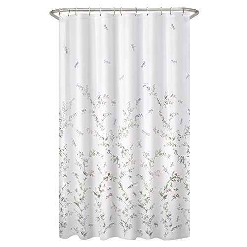 MAYTEX Dragonfly Garden Semi Sheer Fabric Shower Curtain Hot Sale 2017