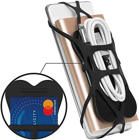 Sinjimoru - Arnés de Silicona para iPhone y Otros teléfonos celulares, Funciona como Agarre para teléfono y Cartera, X Grip Plus, Color Negro: Amazon.es: Electrónica