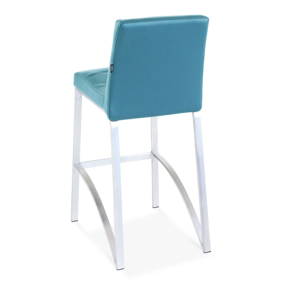Amazon com zuri furniture lynx counter height contemporary bar stool with metal base teal kitchen dining