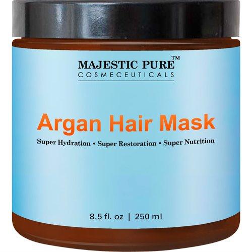 Majestic Pure Argan Oil Hair Mask, Hydrating & Restorative Hair Care Repair